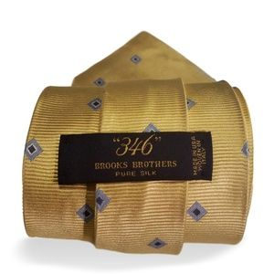 Brooks Brother 346 Yellow Men's Tie